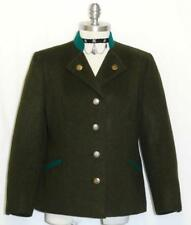 "GREEN BOILED WOOL JACKET Coat German Women Hunting Riding Winter WARM B41"" 10 M"