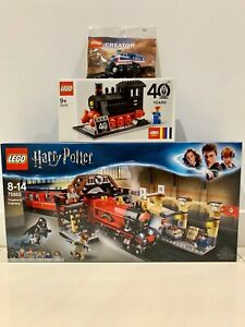 LEGO Trains Bundle 75955 40370 30575 with exclusive 40th Anniversary Train Set