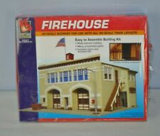 Life-Like Trains Firehouse Easy To Assemble Building Kit For Ho Scale Trains