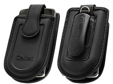 Medium Cellet Black Leather Case With Pouch/Swivel