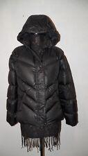Women's Nike Down Hooded Jacket Black Sz L