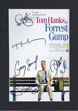 Tom Hanks, Forrest Gump Cast, Signed Mounted Photo Poster Re-Print Size A4