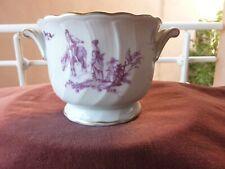 petit rafraichissoir Bernardaud,porcelaine de limoges,decor marie antoinette