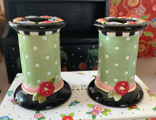 Mary Engelbreit Cottage Collection Candlestick Holders
