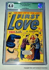 FIRST LOVE ILLUSTRATED 2 CGC 8.0 OWP Sadly green label Early Harvey Romance 1949