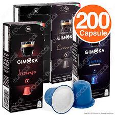 200 Cialde caffè Gimoka A SCELTA capsule espresso compatibili NESPRESSO