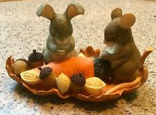 CHARMING TAILS - GIVING THANKS! ! FREE PRIORITY SHIPPING ! Fitz and Floyd!