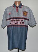 MANCHESTER UNITED 1995/1996 AWAY FOOTBALL SHIRT JERSEY UMBRO SIZE XL ADULT