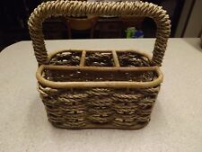 New listing Cutlery Holder Flatware Caddy Silverware Picnic Holder With /rope Bamboo Design