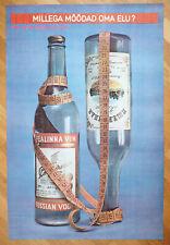 1980s Soviet Russian Stolichnaya Vodka Anti Alcoholism Propaganda vintage Poster