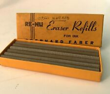 "Vintage Box of ""Eberhard Faber RE-NU Eraser Refills For Ink."", 12 in Box"