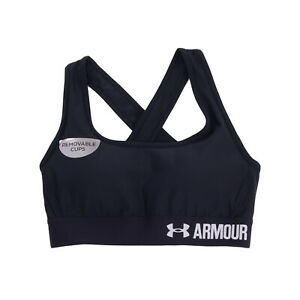 UNDER ARMOUR Sports Bra Size XS Criss Cross Back Removable Pads Fully Lined