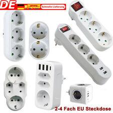 2 3 4 fach Steckdosenleiste Mehrfachsteckdose Steckdose Euro Mehrfachstecker USB