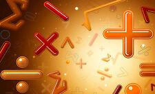 Lámina-Matemáticas símbolos (imagen de Ciencias Físicas Matemáticas ecuación Arte)