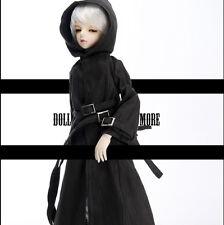 Dollmore 1/4 BJD doll clothes MSD SIZE - Long Buckle Chap Coat (Black)