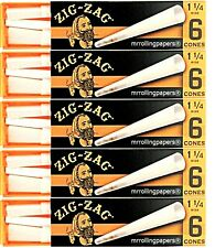 5 PKS Zig Zag  1 1/4 Cones Pre Rolled 30 Cones Total *Great Price USA Shipped*