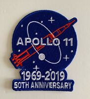 APOLLO 11 PATCH 50TH ANNIVERSARY 1969 - 2019 NASA SPACE LIMITED PIN IN EBAY SHOP