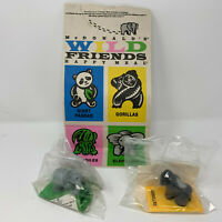 Vintage 1991 McDonalds Wild Animal Friends Happy Meal 1 Bag and 2 Unopened Toys