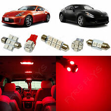5x Red LED lights interior package kit for 2009-2013 Nissan 370z NZ1R