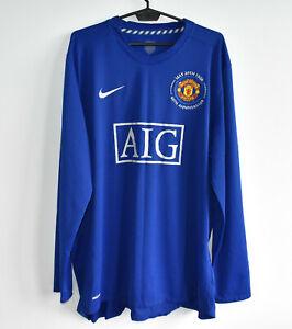 MANCHESTER UNITED rare authentic LS third NIKE shirt trikot jersey 2008-09 XXL