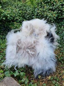 XXXL THE BIGGEST Natural Greys Icelandic Sheepskin Rug A+++ 130cm by 90cm (406)