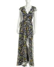 SEXY ELIZABETH AND JAMES NWOT GRACE FLORAL-PRINT SILK MAXI DRESS GOWN SIZE 8