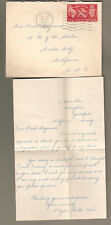 England 1951 cover & letter Phyllis Mills Guildford to Mgm Metro Goldwyn Mayer