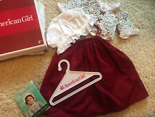 American Girl Felicity's Floral Laced Jacket & Red Petticoat School Outfit NIB
