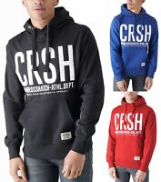 Crosshatch Mens Printed Hooded Sweatshirt Fleece Hoodie Blue Red Black New Top
