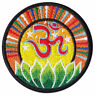 Om Symbol Lotus-Blüte Blume Yoga Goa Zeichen Aufnäher Aufbügler Patch Bügelbild