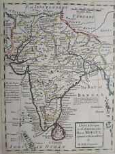 1732 Herman Moll Mapa India Proper or the Empire of Great Mogul Sri Lanka Map+++