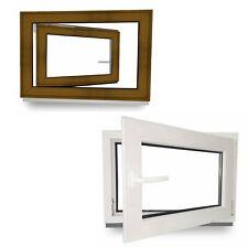 Kunststoff Fenster Kellerfenster Garagen Golden Oak Hellbraun 2 3 fach Dreh Kipp