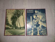 Lot de 2 livres LA FRANCE TRAVAILLE Ed. Horizon de France (années 30)