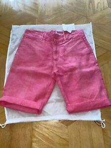 NWT 120% Lino Bermuda SHORTS linen Size S/6 US=42 Italy