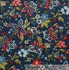 BonEful Fabric FQ Cotton Flannel Quilt Blue Pink Red Flower Calico Country Girl