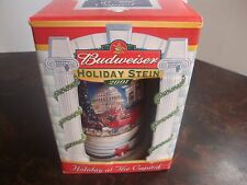 """Budweiser---Holiday Stein---2001---Holiday At The Capital---6 3/4"""" Tall---COA"""