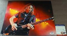 KIRK HAMMETT Signed 11x14 Metallica Photo PSA/DNA Certified Big Bold Autograph