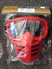 New HONDA Red Vintage  MOTOCROSS GOGGLES WITH MASK. LIKE OLD SCOTT MASKS