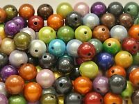 50 Mixed Color 3D Illusion Acrylic Miracle beads 12mm Spacer