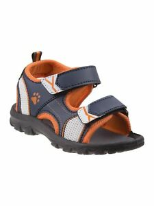 Rugged Bear Little Boys Navy Orange Grippy Outsole Athletic Sandals 8 Toddler