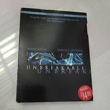 2 Dvd's set Unbreakable Bruce Willis Samuel L Jackson Widescreen Pre-owned Exc