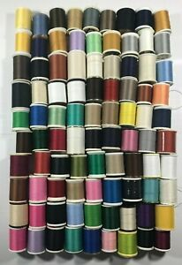 Lot of 90 Mixed Colors Vintage Sewing Thread. NO wood spools. NOT all full.