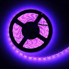 Purple 5M Waterproof 300 LED 5050 SMD Flexible LED Light Lamp Strip DC 12V Car