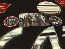 ☀KISS☀Hard Rock Hotel Casino☀ Vegas Chips Set $25☀$5☀Room Key 11-14☀NEW + Flyer