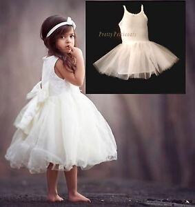 GIRL  CHILDREN'S BABY KIDS PETTICOAT UNDERSKIRT BRIDESMAID FLOWER GIRL DRESS