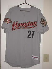 Houston Astros Game Used 2004 Road Baseball Jersey - Hernandez, All-Star Patch