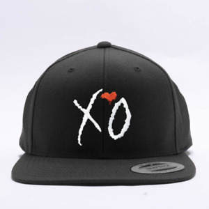 XO The Weekend Embroidered Adjustable Classics Snapback Cap - Black