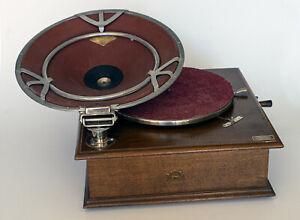 GRAMOPHONE PHONOGRAPHE PATHE DIFFUSOR avec caisse en bois