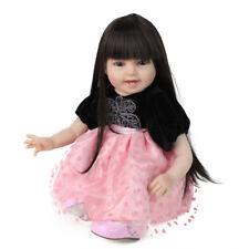 "22"" Newborn Reborn Baby Dolls Soft Silicone Vinyl Girl Real Realistic Alive UK"