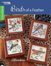 Cross Stitch Pattern Book BIRDS Of A FEATHER ~ Hummingbird, Crane, Canary +